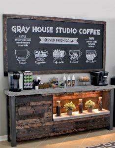coffee bar cabinet