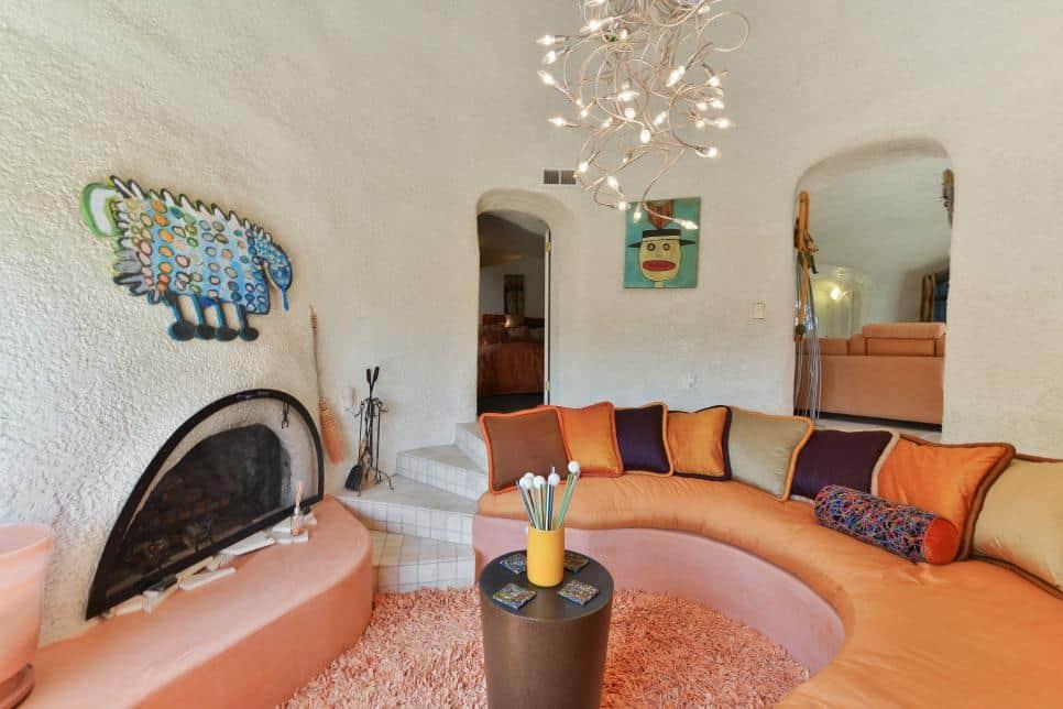Perpendicular Sunken Living Room