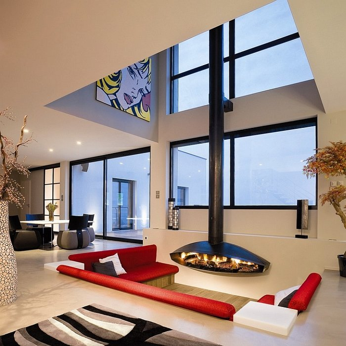 Perpendicular Sunken Living Room