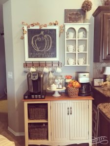 Ordinaire Autumn Themed Home Coffee Station Ideas
