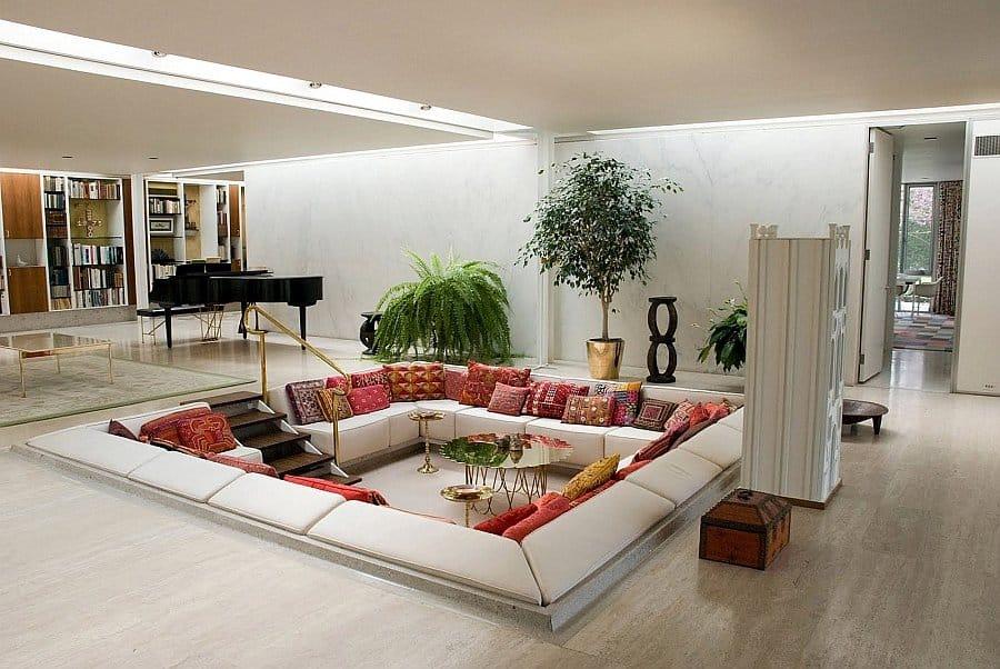 19 Best Sunken Living Room Design Ideas You\'d Wish to Own
