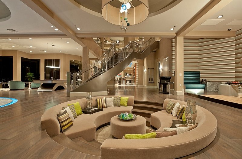 Beachy Sunken Living Room