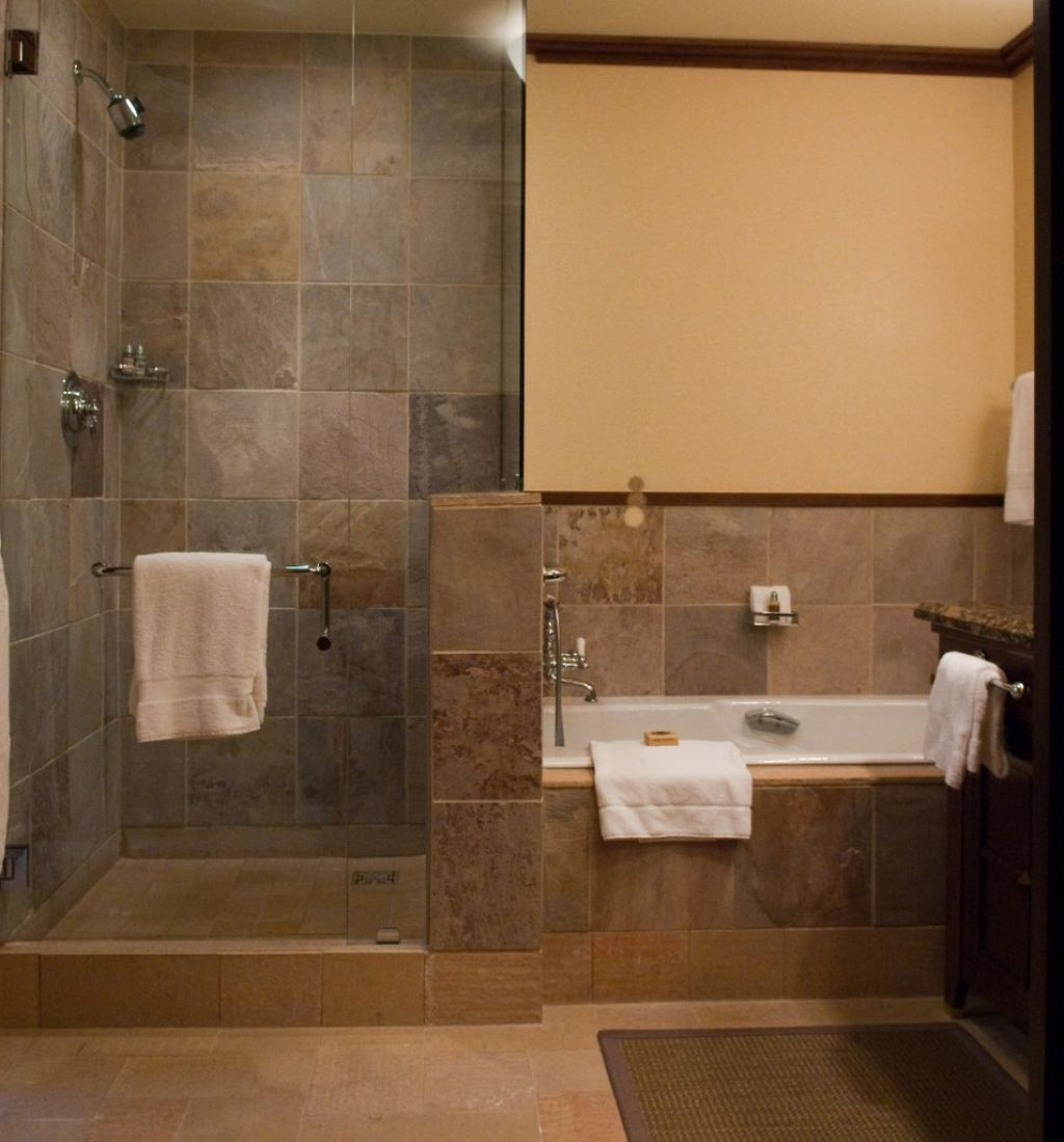 Pros and cons of having doorless shower on your home Bathroom remodel ideas with stand up shower