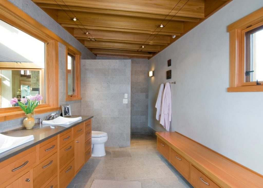 pros and cons of having doorless shower on your home. Black Bedroom Furniture Sets. Home Design Ideas