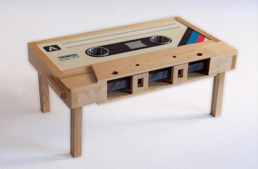 Cool Coffee Table With Cassette Tape Form