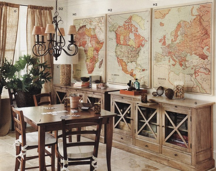 Enhance With Old Maps Steampunk Home Decor