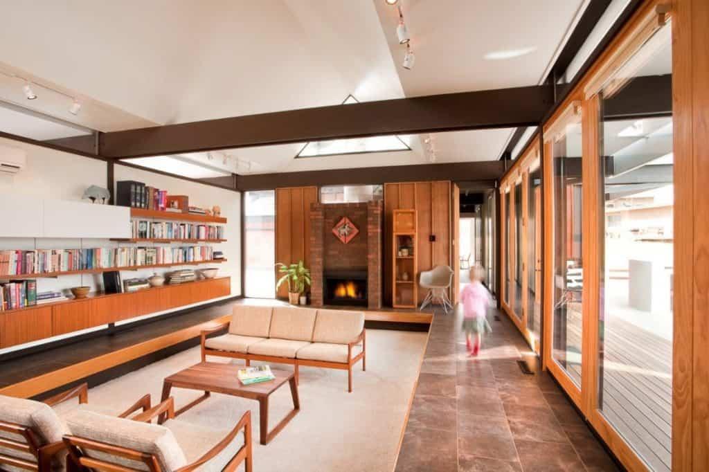 Contemporary Sunken Living Room
