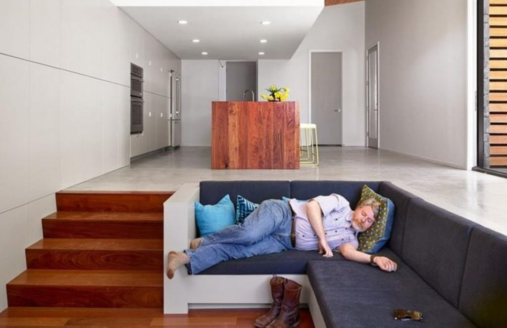 Conventional Sunken Living Room