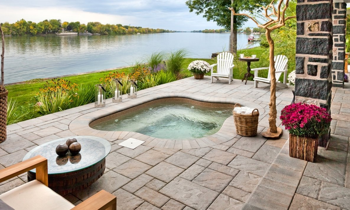 outdoor jacuzzi design plans picture maintenance pros and cons. Black Bedroom Furniture Sets. Home Design Ideas
