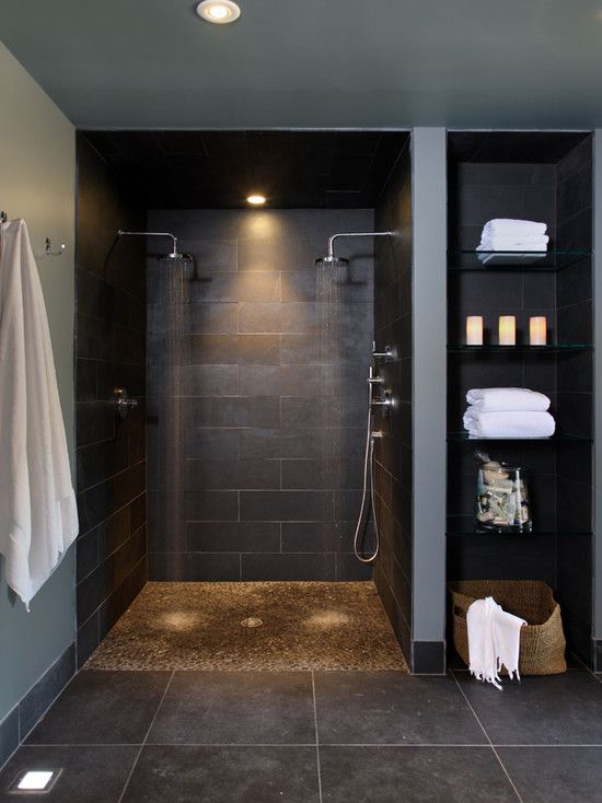 allow the rest of the washroom design flow right into the shower