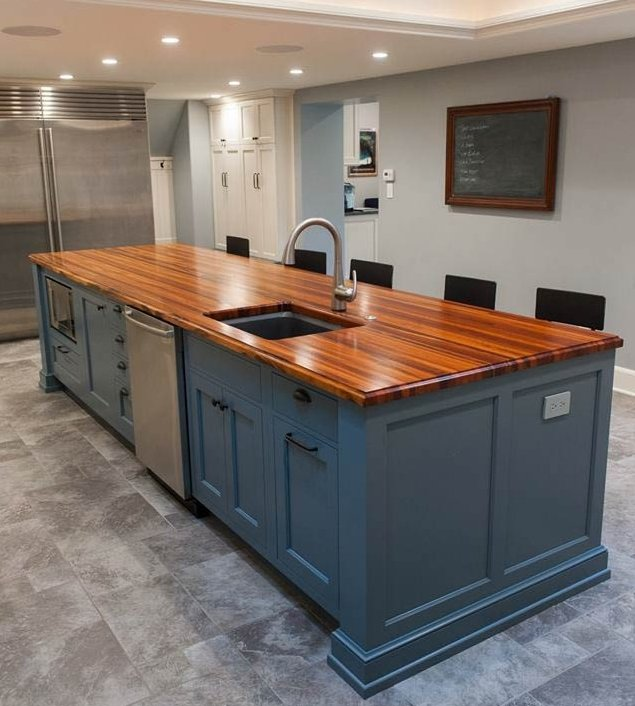 Wooden Kitchen Countertops: 30 Rustic Countertops That Will Make Your Home Cozier And