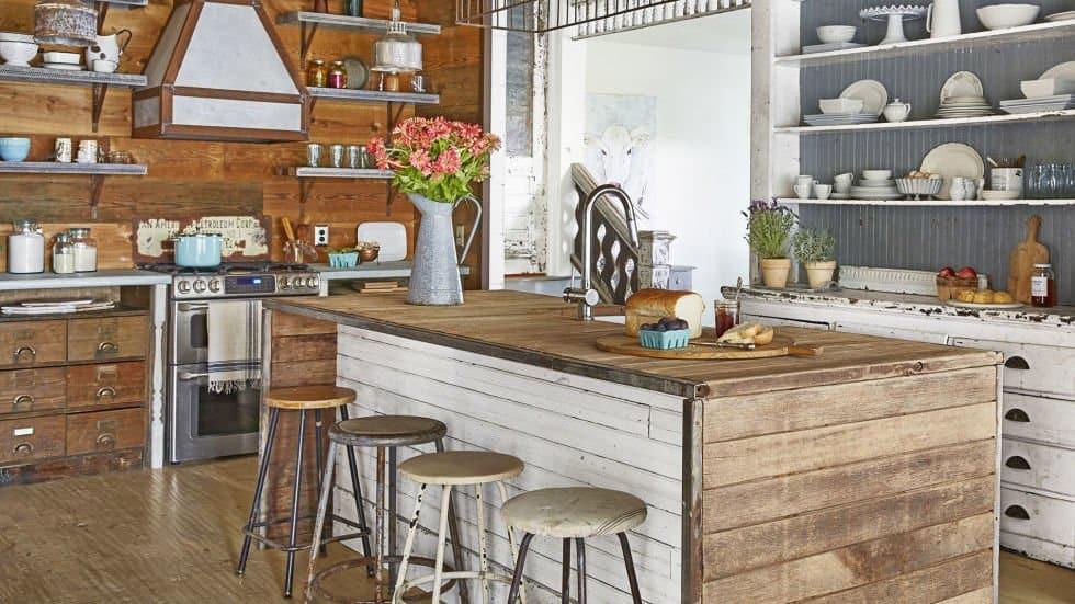 rustic butcher block countertops