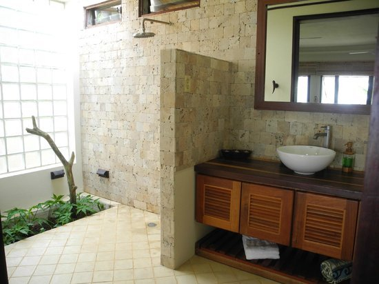 Pros and cons of having doorless shower on your home for Small bathroom designs in sri lanka
