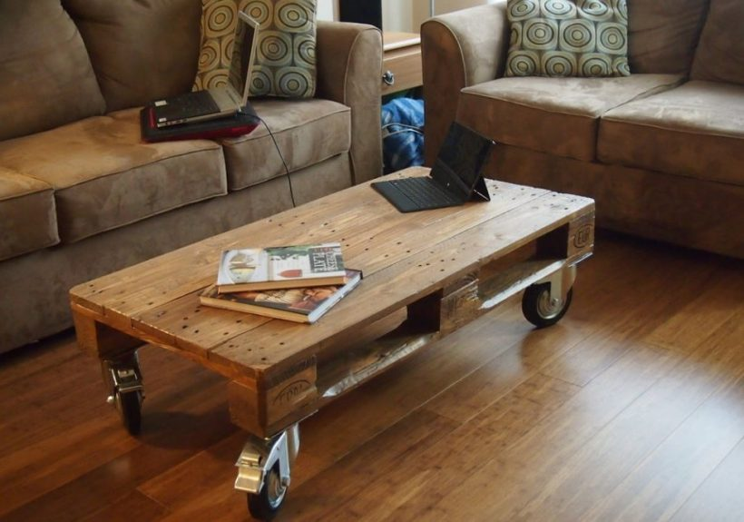 15 Cool Coffee Table Ideas To Brew-Tify Your Living Room - Wood Pallet Coffee Table Diy