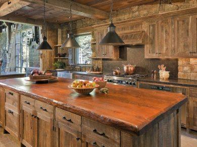 Barn Wood Kitchen Islands - Antique Barn Wood Kitchen Cabinets With Wooden Table In Kitchen Island Motokowindlife