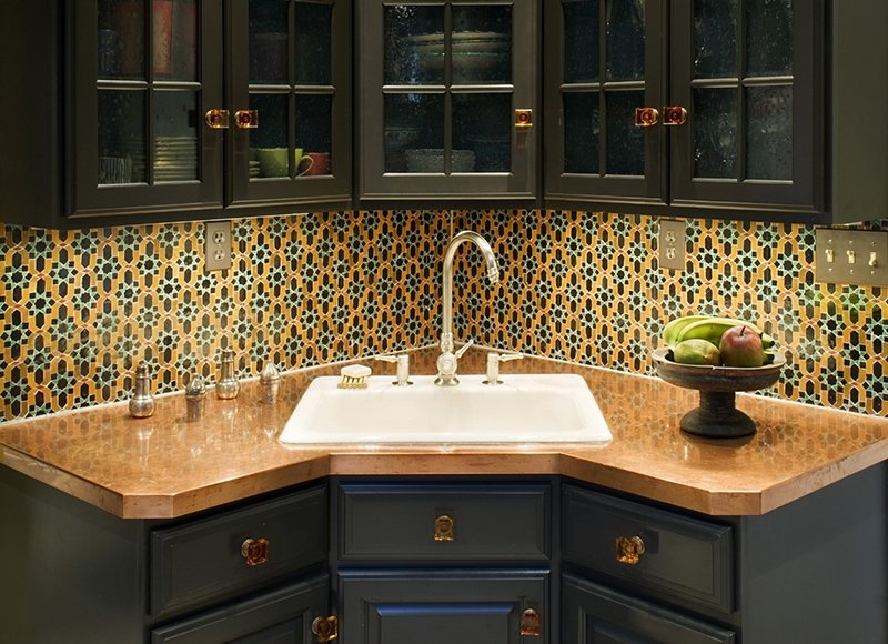 Corner Sink Kitchen Cabinet Design