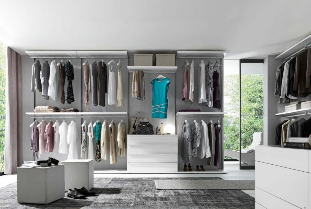 Luxury Walk In Closet With Customized Cabinetry
