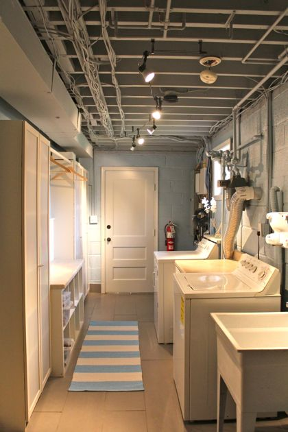 Basement laundry room design remodel and makeover ideas for How to add a laundry room to your house