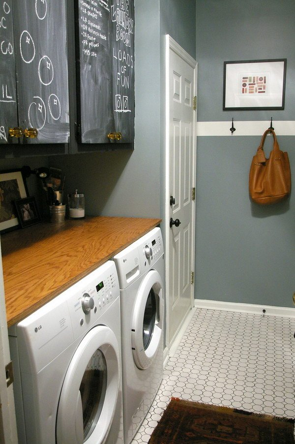 basement laundry room makeover