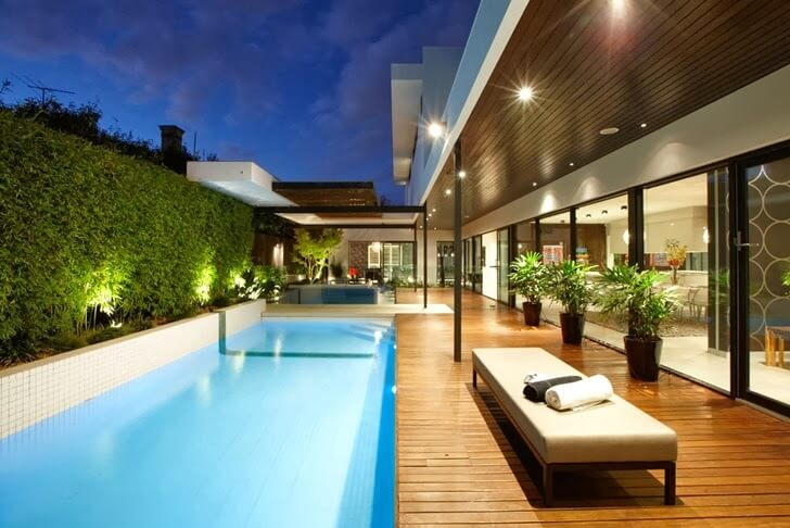 35+ Luxury Swimming Pool Designs to Revitalize Your Eyes on modern houses with pools, modern rectangle pools, modern water features with pools, modern pools with pools, modern small backyards with grass, modern backyard ideas, modern bedrooms with pools,