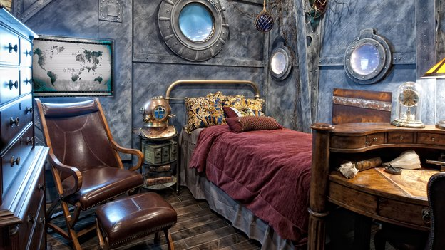 Steampunk bedroom design ideas furniture wallpaper and for Steampunk story ideas