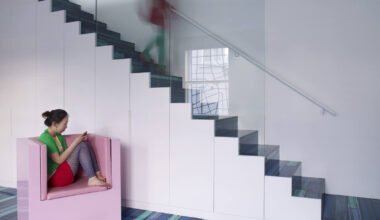 Blue staircase color
