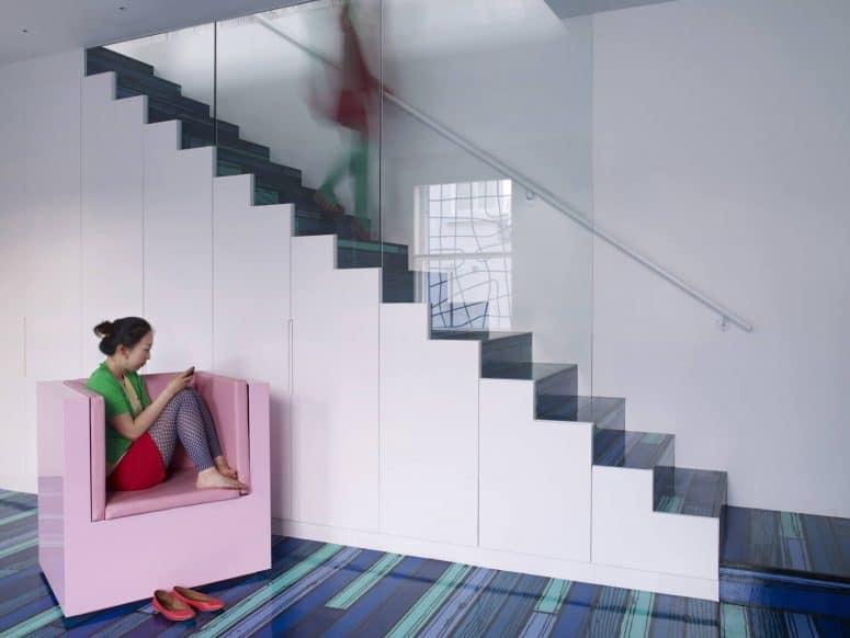 ideas de colores de pintura para escaleras