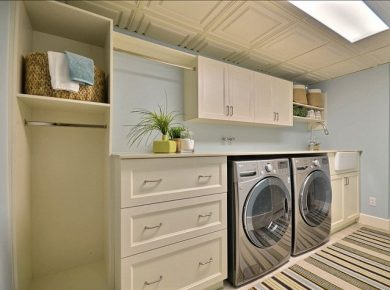 Basement Laundry Room - Color Bright Basement Laundry Room Homebunch
