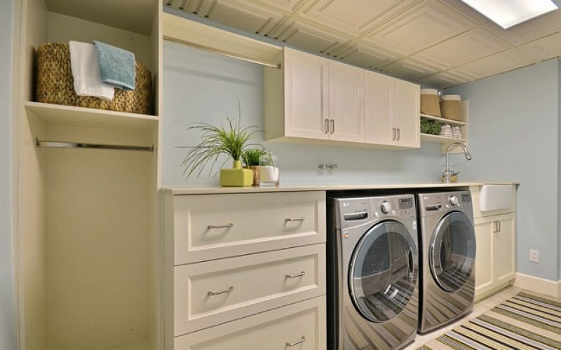 13 Basement Laundry Room Design Makeover and Remodel Ideas