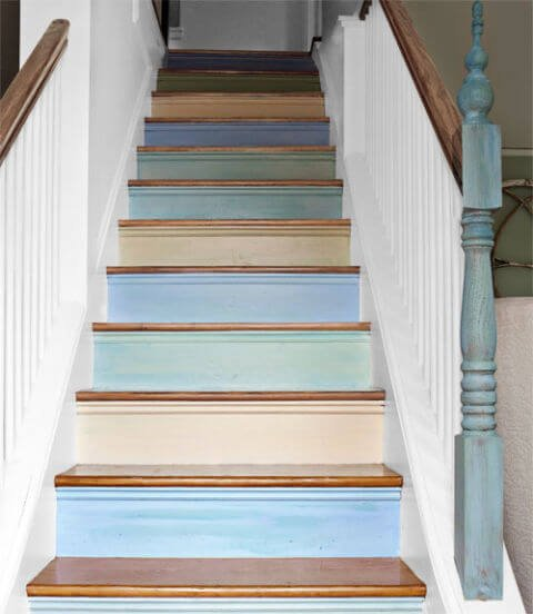 painted stairs ideas pictures