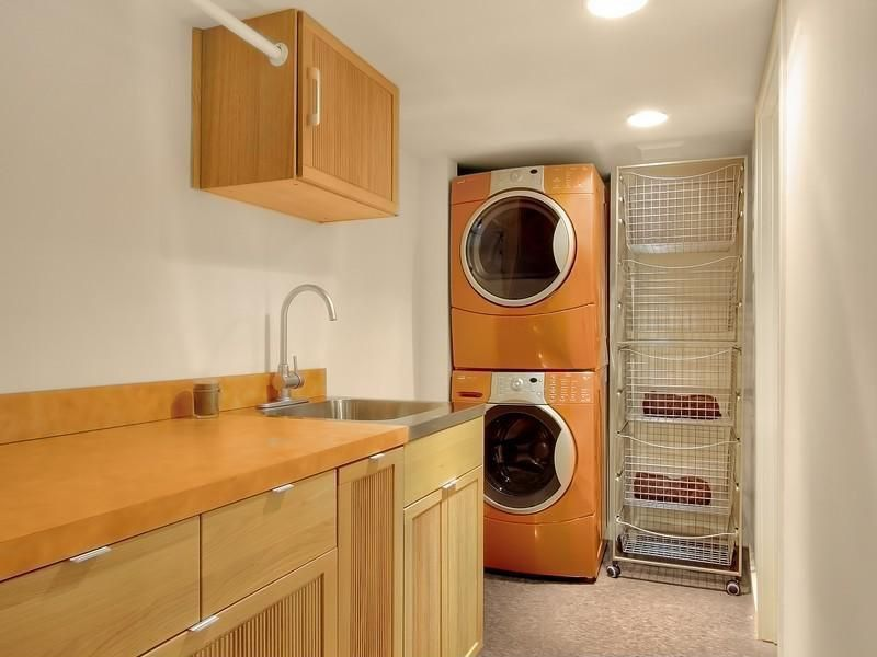 Sleek Basement Laundry Room