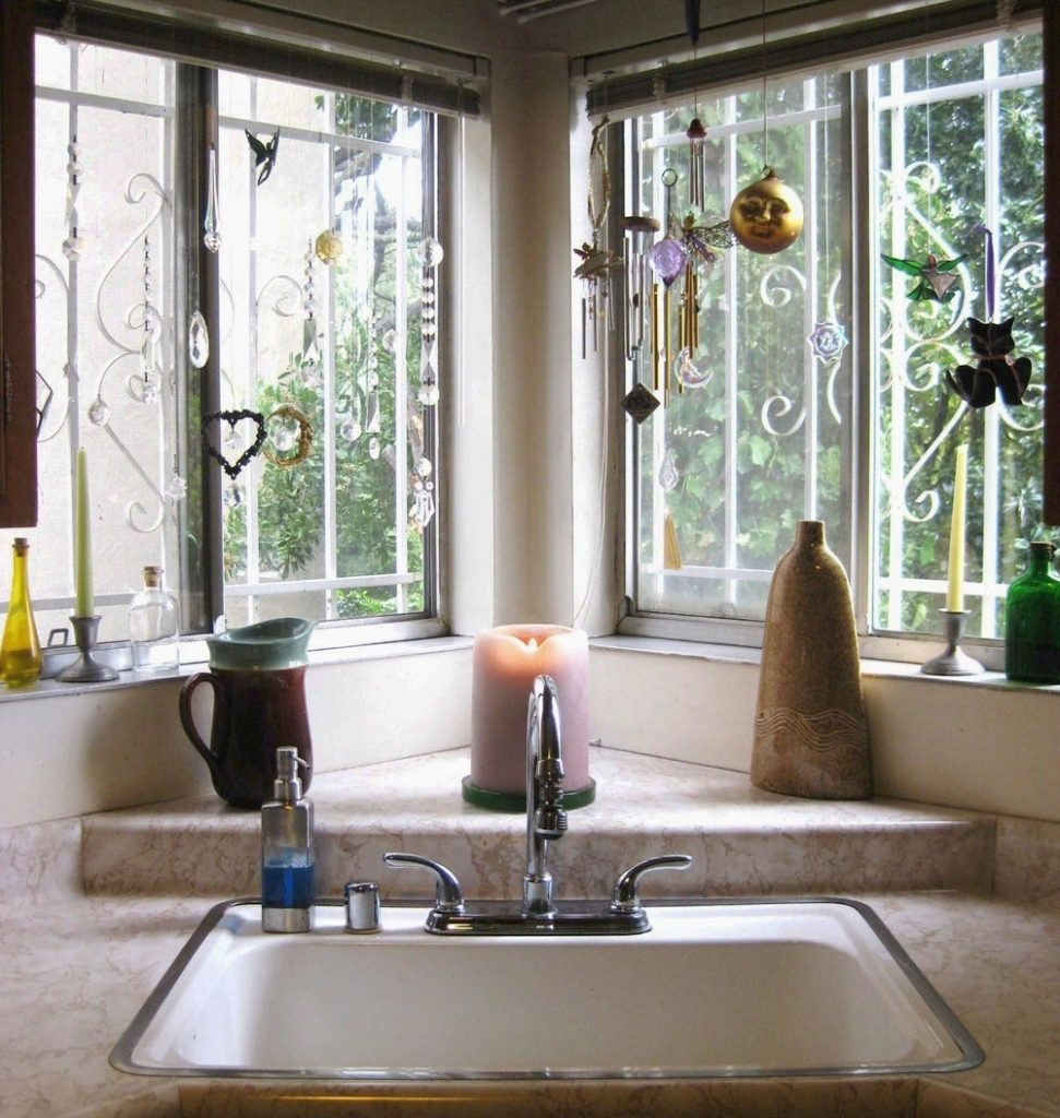Corner Kitchen Sinks In Delightful Corner Kitchen Sink Design Ideas