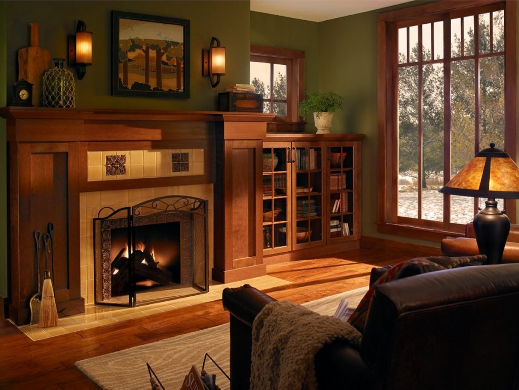Warm Lighting In A Craftsman Style Living Room Part 47
