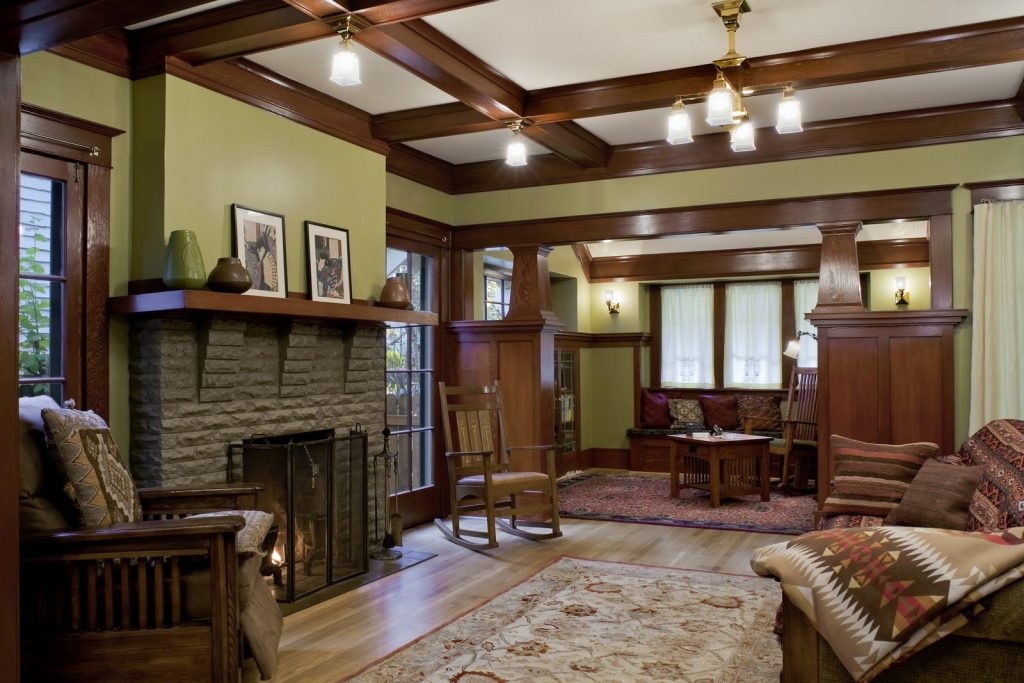 Marvelous Contemporary Craftsman Style Living Room