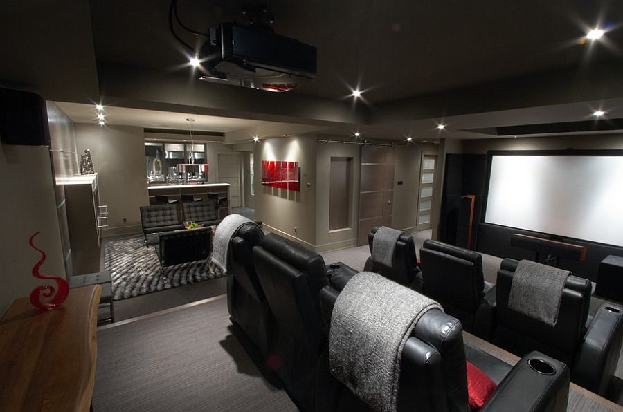 Dark Basement Home Theater