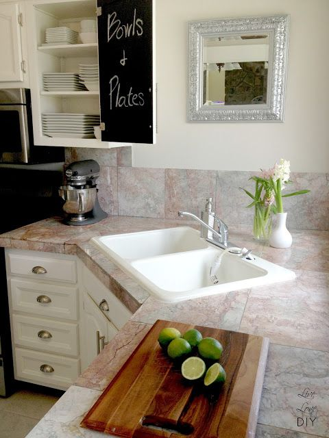 Granite Countertop With Corner Kitchen Sink Image