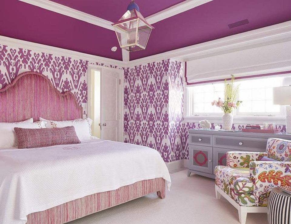 Large Room With Purple Color