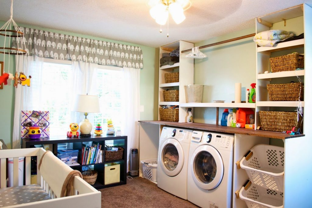 Laundry Room Design Layout Washer And Dryer Cabinets