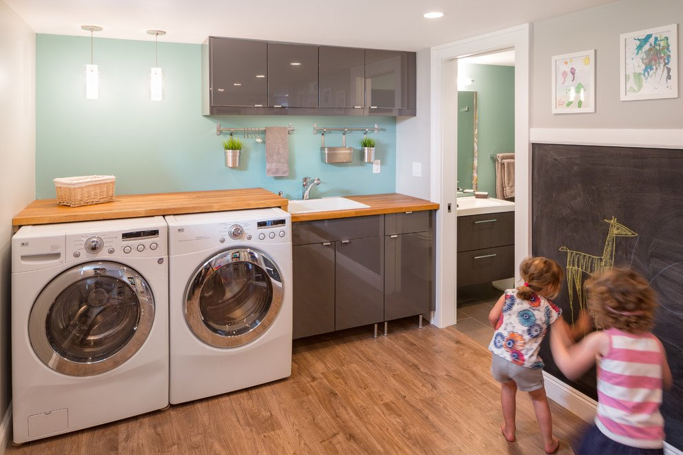 basement laundry room makeover & Basement Laundry Room Design Remodel and Makeover Ideas