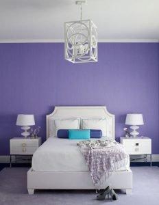 lilac bedroom design