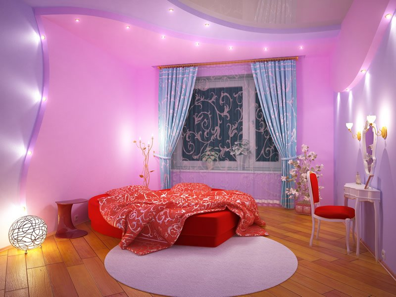 lovely purple bedroom design for adult
