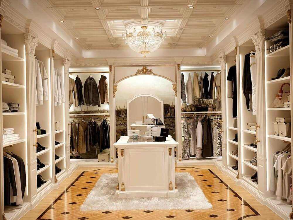 White Luxury Walk In Closet Ideas