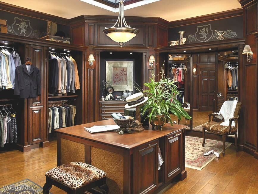 Large Walk In Closet Wood With Island