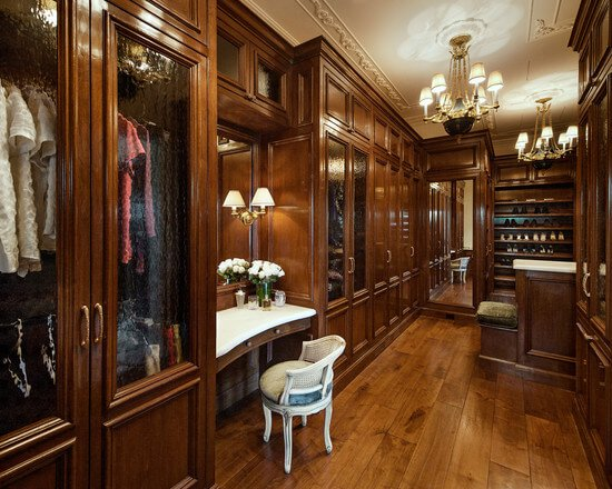 Merveilleux Wood Luxurious Walk In Closet Ideas