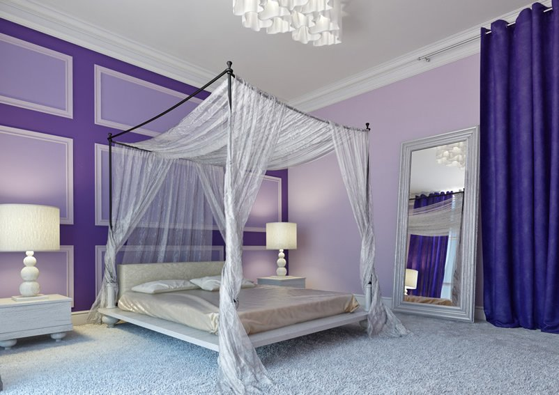 modern purple bedroom design for toddler