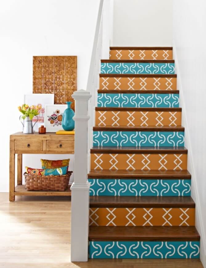 DIY painted staircase