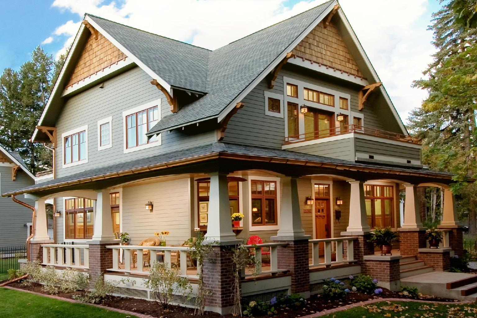 Craftsman style house history characteristics and ideas for Free craftsman house plans