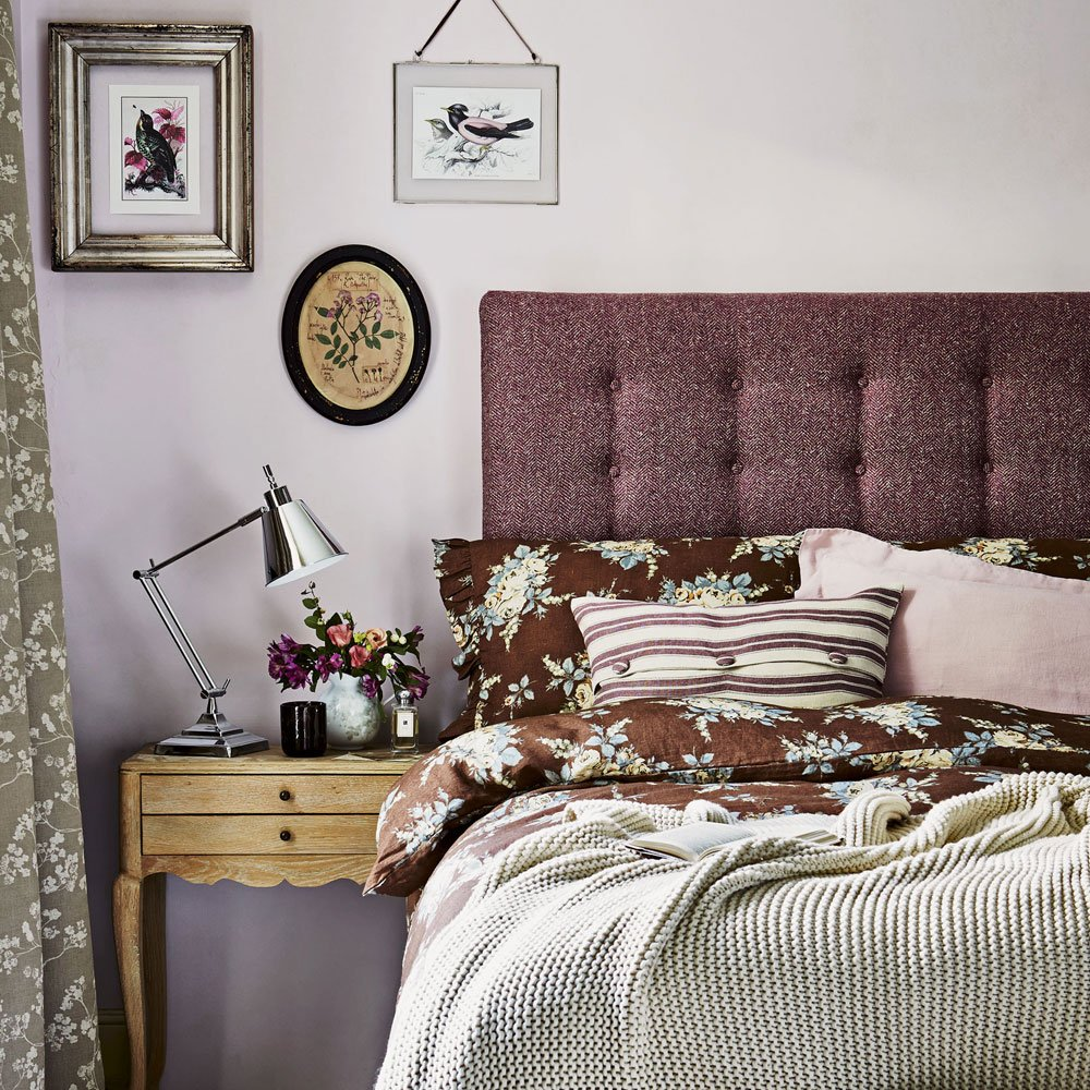 purple bedroom design soft