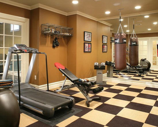 23 most extravagant basement rec room ideas for Best home gym design ideas