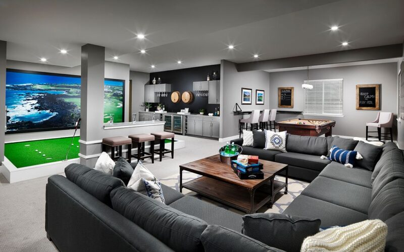 23 Most Extravagant Basement Recreational Room Ideas
